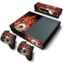 XBOX ONE Skin Design Foils Faceplate Set - Fire Drums Design