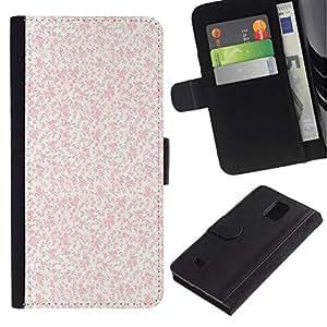 All Phone Most Case / Oferta Especial Cáscara Funda de cuero Monedero Cubierta de proteccion Caso / Wallet Case for Samsung Galaxy Note 4 IV // durazno rosa pintado vendimia
