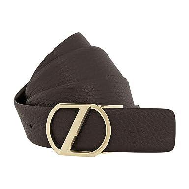 03c254bca1 Zegna Men's XXL Reversible Calfskin Leather Belt - Brown 43