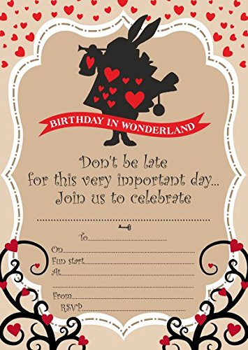 10 Inviti Per Festa Di Compleanno Per Bambini Di Alice Nel Paese