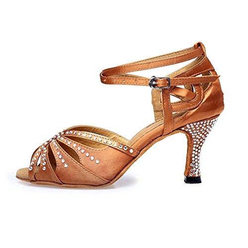 TTdancewear Frauen Strass Ballroom Dance Schuhe Latin Salsa Performance Tanzschuhe Tan-3inch Heels