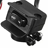 ZHUOTOP Heavy Duty Handlebar Control Line Winch Rocker Switch Handlebar Control Warn For ATV/UTV