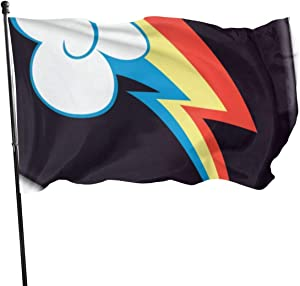 NA Flag 3x5 Feet with Brass Grommet Double Stitch Retro Stripe Banner Garden Flag House Breeze Decorations for Indoor Outdoor Boat-Rainbow Dash