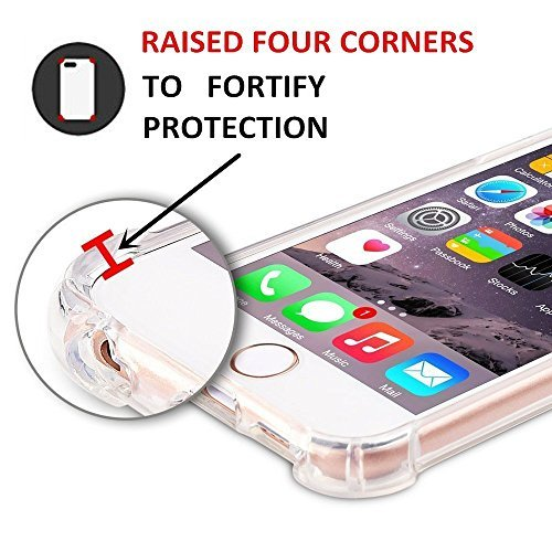 Funda iPhone 6 6S Carcasa Silicona Transparente Protector TPU Airbag Anti-choque Ultra-delgado Anti-arañazos Case para Teléfono Apple iPhone 6/6S Caso Caja B-hombre
