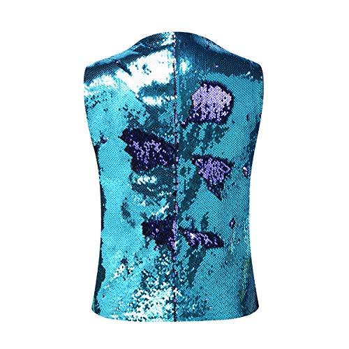 Pour Bicolore Gilet À De Violet Paillettes Homme Casual Costume Mariage WrxxYT7wP