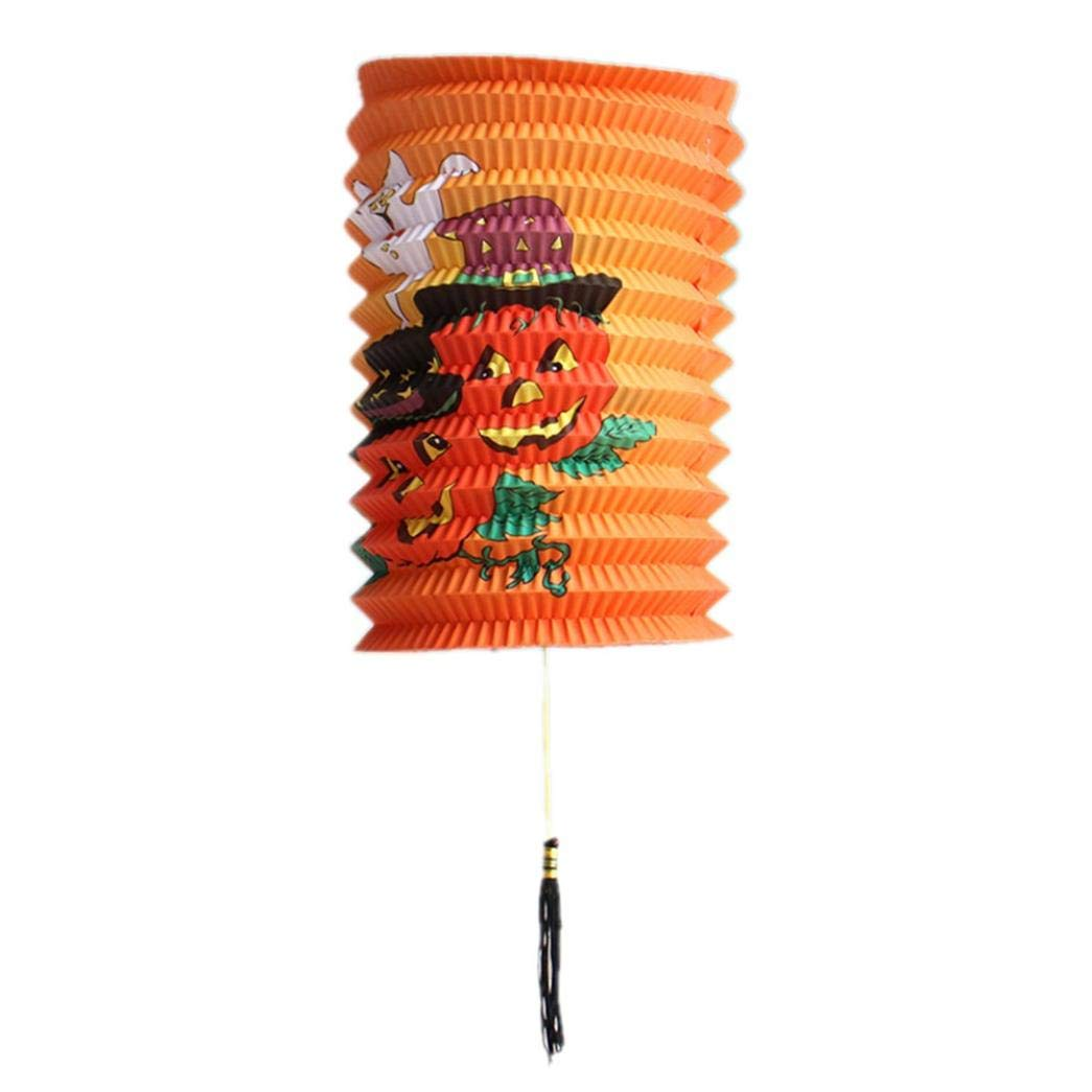 lotus.flower Halloween LED Paper Lantern,Led Battery Operated Lights,Pumpkin&Skull Paper Hanging Light For Party Decorations,Mall,Hotel,Restaurant,Venue Layout (A)