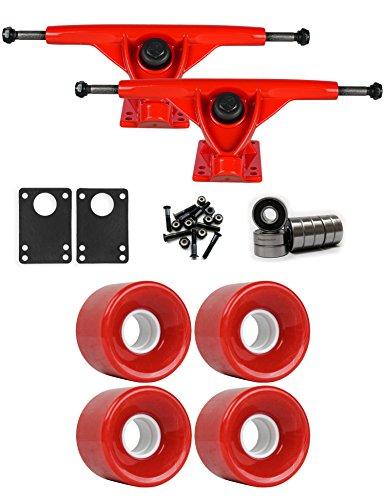 投資ために建てるRKPレッドLongboard Trucksホイールパッケージ59 mm x 43 mm 78 a 186 Cレッド