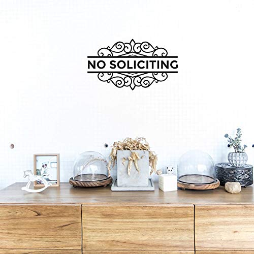 NO SOLICITING please and thank you vinyl wall decal sticker front door quote
