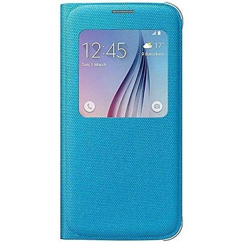 Samsung Fabric S-View Folio Schutzhülle Case Cover für Galaxy S6 - Blau