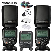 YONGNUO Wireless Flash Speedlite YN600EX-RT II TTL Master for Canon DSLR Camera Canon AS Canon 600EX-RT + YN-E3-RT Transmitter Remote Controller + 30pcs Color Filters Diffuser Kit