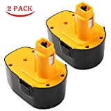 Enegitech 2 Pack Battery For DEWALT 14.4V 3.0Ah XRP DC9091 DW9091 Replacement High Capacity DC DW Series Cordless Power Tools (Pod-Style)