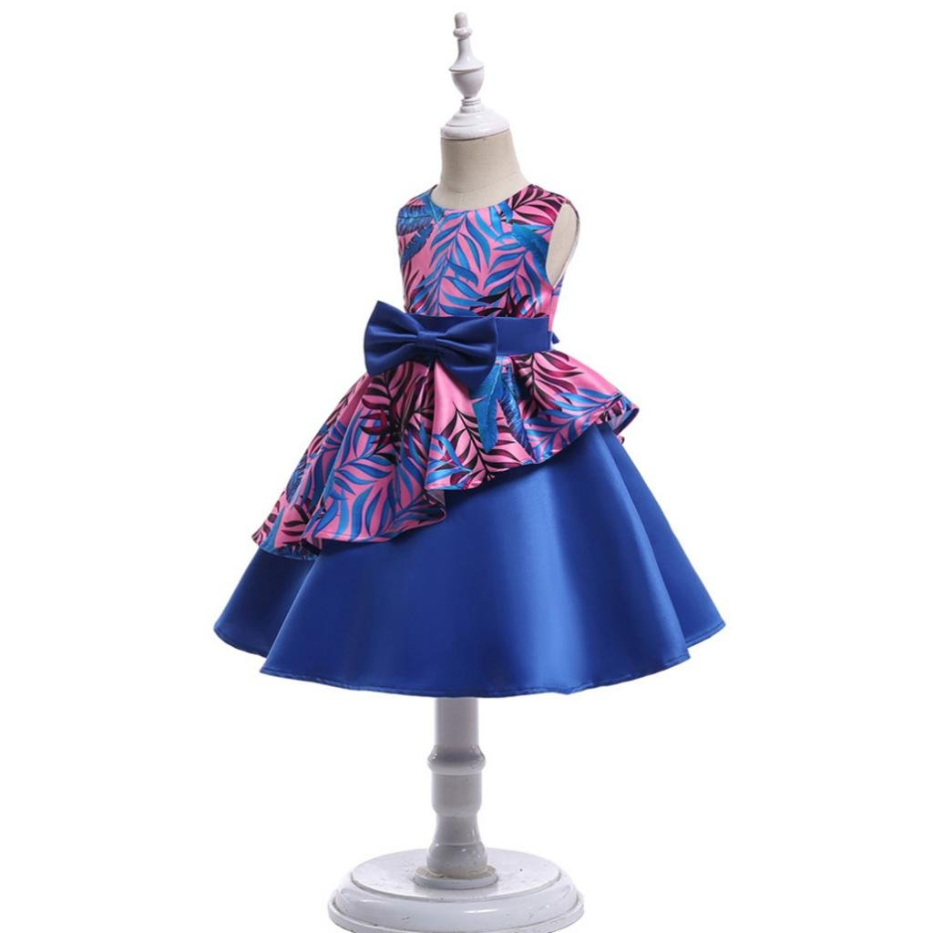 Homyl Vestido de Princesa de Bebés Ropa de Fiesta de Moda para Bailar Accesorio de Boda - Azul, 100: Amazon.es: Bebé