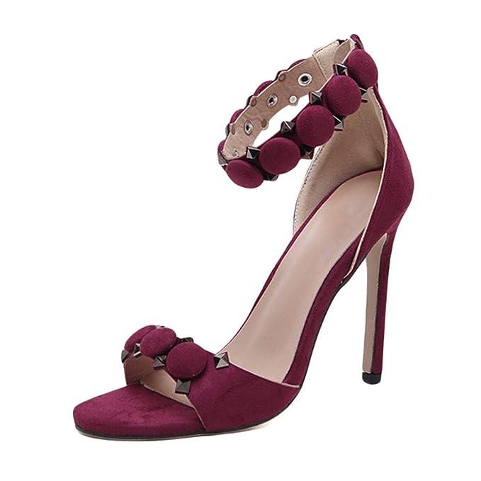 Scarpe Elegante Estate Col Witsaye Stiletto Tacco Donna Cinturino 76IbvYyfgm