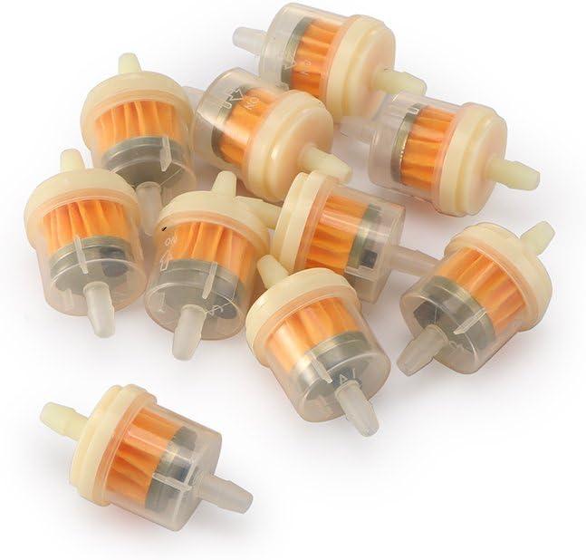 Verdelife Filtre /à carburant /à essence adapt/é pour tuyau dessence de 6 mm 10 pi/èces en plastique jaune 3 5,5 cm D * H