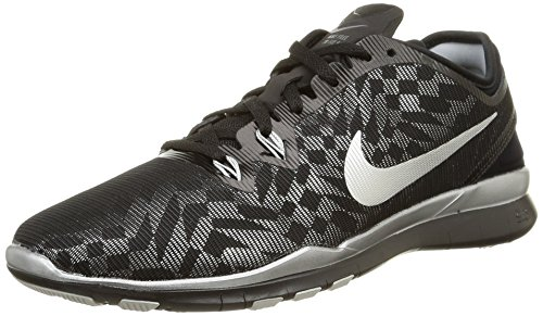 Nike Womens Free 5.0 Tr Fit 5 Prt Training Shoe Women US Black/Metallic Silver 3XhHuuiLZx