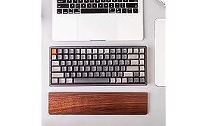 Walnut Wood Palm Rest for Keychron K1 K2 Bluetooth Mechanical Keyboard