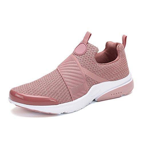 Nike Adidas Puma Shoes - Mishansha Men Women Fashion Sneakers Breathable Mesh Comfortable Lightweight Walking Shoes Slip-On Running Soft Pink