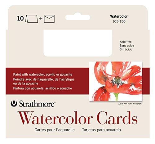 Strathmore STR-105-150 Watercolor Cards (10 (Watercolor Art Card)
