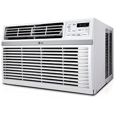 LG 2014 Energy Star Qualified Window Mounted 8,000 BTU Air Conditioner, with 3 Cooling and 3 Speed Modes, 12-Hour On/Off Timer, Easy Clean Mesh Filter, Energy Saver Function with Eco Friendly R410A Refrigerant, Fully Functional Remote Included