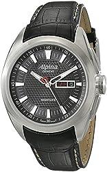 Alpina Men's AL242B4RC6 Analog Display Swiss Quartz Black Watch