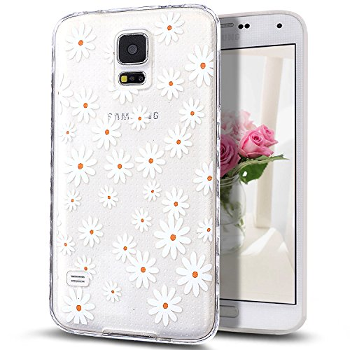 Galaxy S5 Mini Case,NSSTAR Scratch-Proof Ultra Thin Crystal Clear Rubber Gel Transparent TPU Soft Silicone Bumper Case Cover with Shockproof Protective Case for Samsung Galaxy S5 Mini,White - S5 Dollar Cases Galaxy For