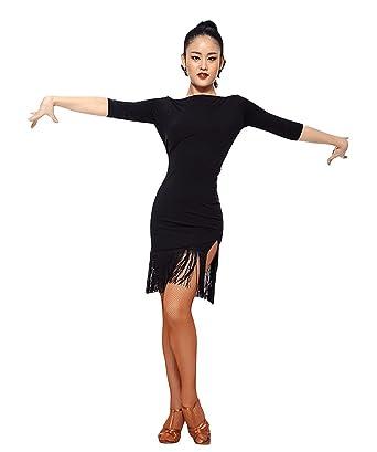 4b703e054fe TALENT PRO Latin Dance Dress Women Samba Salsa Rumba Dress at Amazon ...