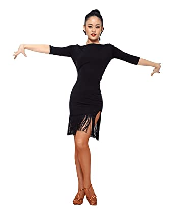 2a829c2c8 TALENT PRO Latin Dance Dress Women Samba Salsa Rumba Dress at Amazon ...