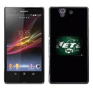 CHORROS - Metal de aluminio y de plástico duro Caja del teléfono - Negro - Sony Xperia Z L36H