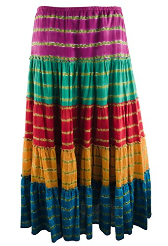 Ralph Lauren Women's Plus Tiered Maxi Skirt-M-1X