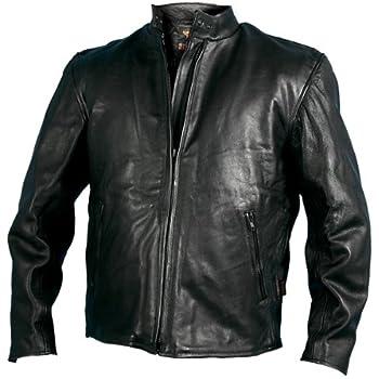 Amazon.com: Hot Leathers Leather Men's Racing Jacket (Black, Size ...