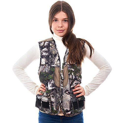 TrailCrest Kids Mossy Oak Deluxe Front Loader Hunting Vest, XS, Mountain Country