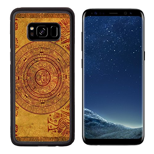 Liili Premium Samsung Galaxy S8 Aluminum Backplate Bumper Snap Case Maya calendar on ancient parchment Photo 6237692 Simple Snap Carrying