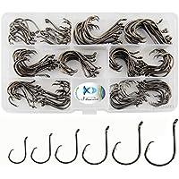 JSHANMEI 150pcs/box Circle Hooks 2X Strong Customized...