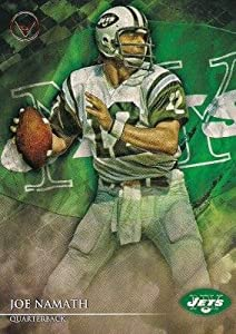 Joe Namath football card (New York Jets) 2014 Topps Valor #2