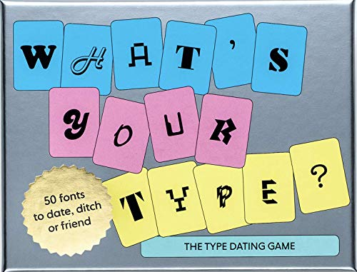 This unique card game lets you test how type savvy you are! For everyone who wants to get to know fonts a little better, what better way than to go on a date? Struggling to decide between Arial and Times New Roman for your résumé? Can't tell the diff...