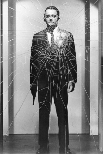 Robert Vaughn 24x36 Poster classic Man From UNCLE broken glass image with gun from Silverscreen