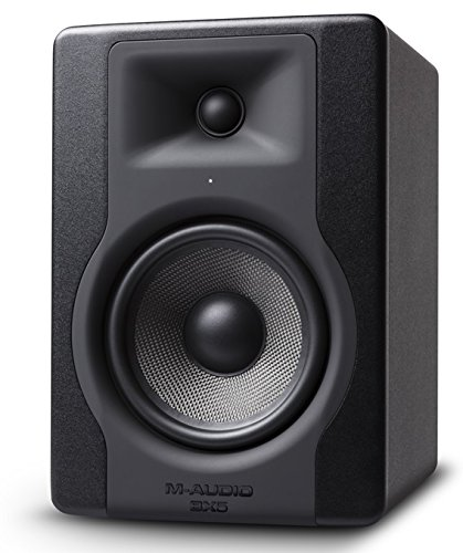 "M-Audio BX5 D3 | Powered Studio Monitor with 5"" Woofer for Music Production, Recording and Audio Streaming"