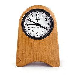 Shaker Style Desk Clock, Natural Cherry Wood, 7