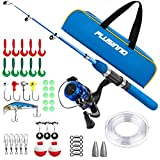 PLUSINNO Kids Fishing Pole,Light and Portable Telescopic Fishing Rod...