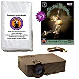 Spectral Illusions Phantoms & Wraiths Compilation Video Projector Kit -1900 Lumen Projector - Includes Reaper Brothers Rear Projection Screen.