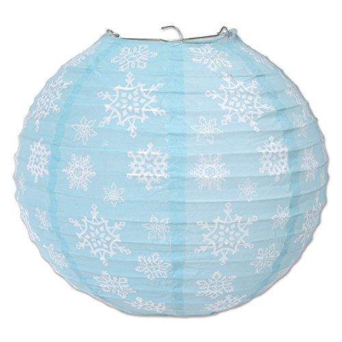 Beistle-20758-Snowflake-Paper-Lanterns-9-12-Inch-Light-BlueWhite