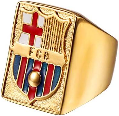 maijia Anillo del FC Barcelona FCB Club Insignia del Club Anillo de Acero Titanio para Hombre, Joyas HZ108 (9): Amazon.es: Joyería
