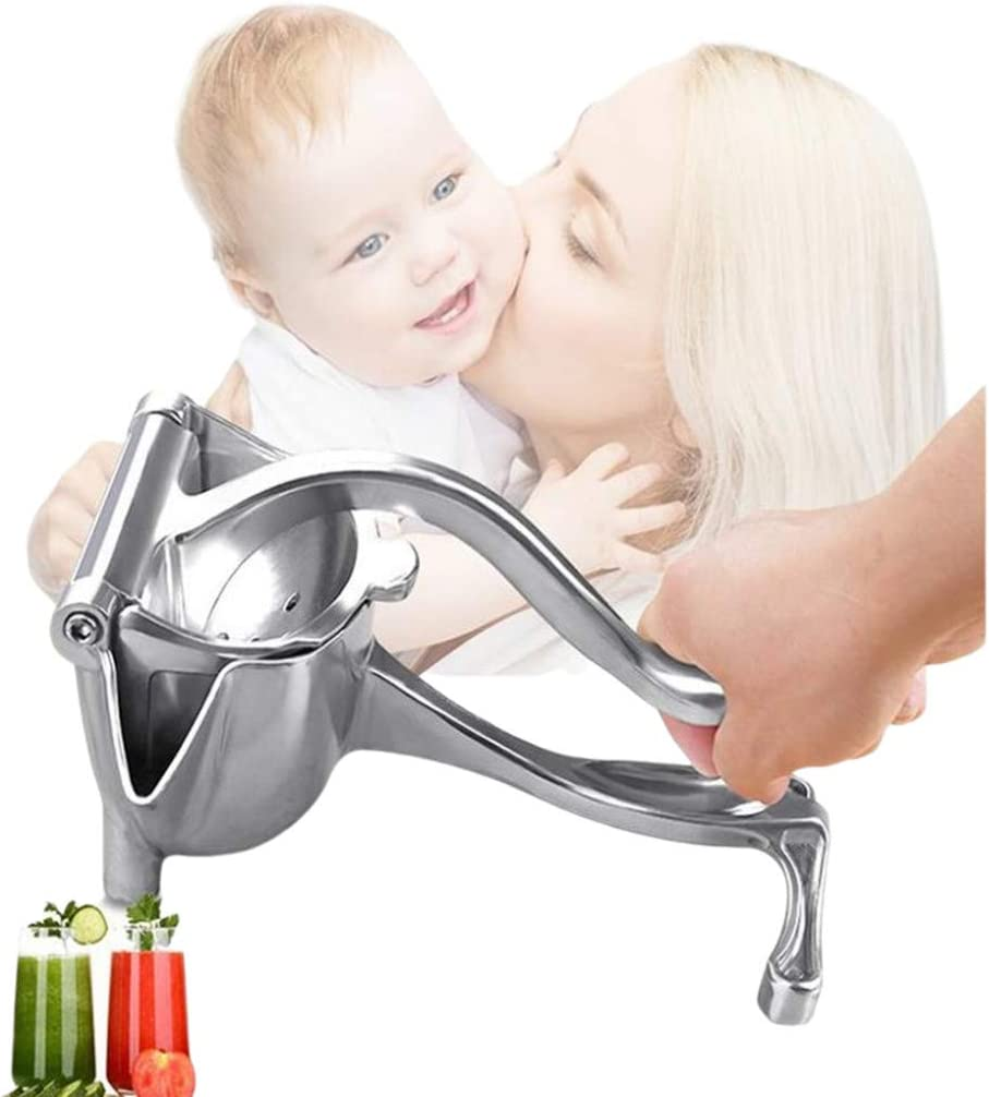 Manual Juicer Handheld Steel Juicer,Stainless Steel Manual Fruit Juicer,Great Citrus Squeezer for Healthy Juicing, Cocktails, Cooking