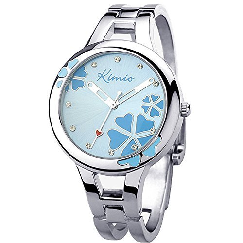 JIANGYUYAN Girls Women Clover Small Bracelet Watch Wrist range14-17cm 110104