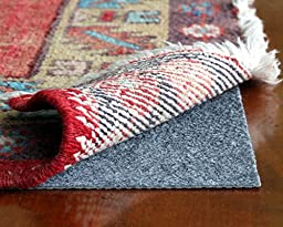 Rug Hold by Rug Pad Central, Runner & Area Rug Pad, Non-Slip Felt & Rubber, Non Skid for Hardwood Floors & Hard Surfaces, Reversible for Rug on Carpet- Made in USA (5\'x7\')