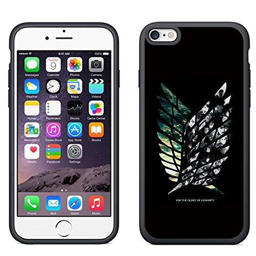 Attack on Titan Manga Apple iPhone 7 Plus 5.5 inch TPU Case Cover + Thewart_Eight Stylus Pen (#4 Black)