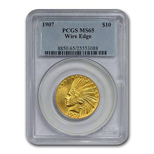 1907 $10 Indian Gold Eagle MS-65 PCGS (Wire Edge) G$10 MS-65 PCGS