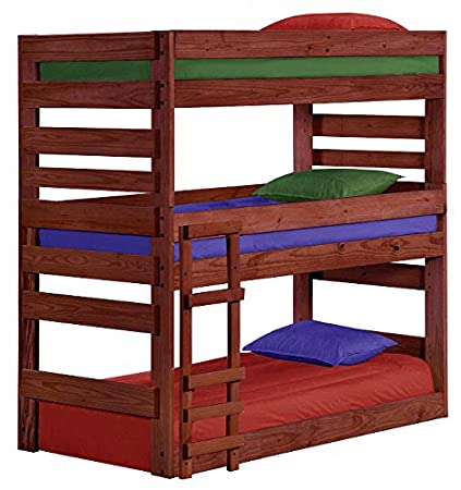 Amazon Com Cass County Extra Long Triple Bunk Bed Unfinished