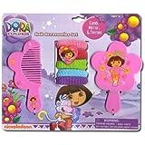 Nickelodeon 7pc Dora the Explorer Hair Accessory Set - Dora Vanity Set by Disney