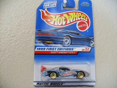 Hot Wheels Olds Aurora Gts-1 #911 1999 First Editions Gts on Card # One on Car